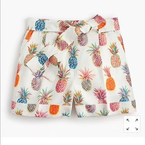 J. Crew Pineapple Print Linen Shorts
